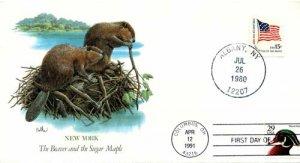 ersttagsbrief-usa-biber-und-zuckerahorn-1980