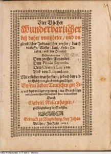 rollenhagen-vier-buecher-wunderbarlicher-biss-daher-unerhoerter-und-ungleublicher-indianischer-reysen-1603