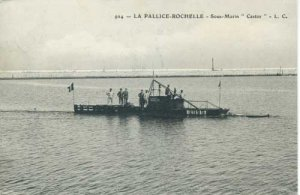 postkarte-unterseeboot-castor-im-hafen-la-rochelle-1909
