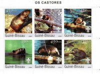 Briefmarke_Biber_Guinea_Bissau_Serie_web